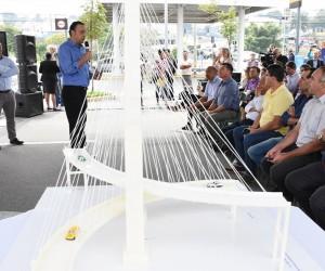 Vereadores acompanham lançamento de edital para construção de primeira ponte estaiada da cidade