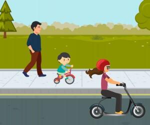 Vereador propõe compartilhamento de scooter elétrica e bicicleta infantil