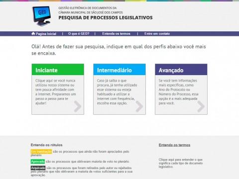 GED permite amplo acesso aos projetos do Legislativo