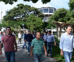 Vereadores vistoriam obras do Teatrão avaliadas em R$ 30 milhões